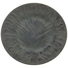 "Rene Lalique ""Algues Noir"" , Tree of Live, Art Glass Plate"