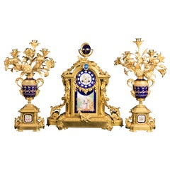 Napoléon III Clock Garniture, circa 1880