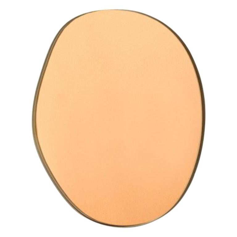 Sabine Marcelis Contemporary Off Round Wall Mirror Bronze Rotterdam For Sale
