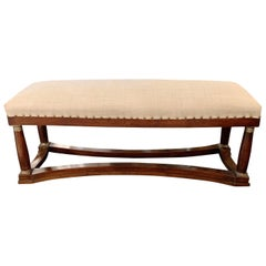 19th Century Upholstered Bench, France