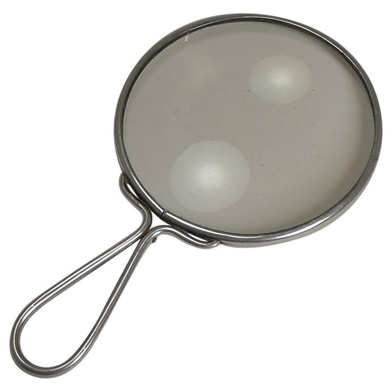English Sterling Silver Magnifying Glass by Sampson Mordan, 1925 For Sale