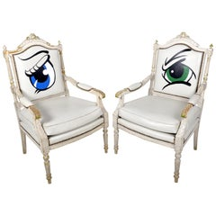 Pair of French Louis XVIth Revival Armchairs