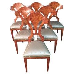 20th Century 6 Vienna Biedermeier Beech Chair after Josef Danhauser