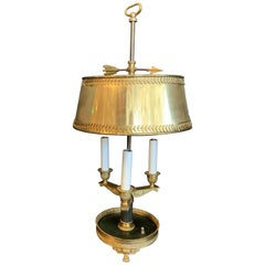 Wonderful French Empire Neoclassical Regency Bronze Patinated Bouillotte Lamp