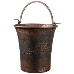 Huge Vintage Swiss Copper Chocolate Vat Cauldron, circa 1890