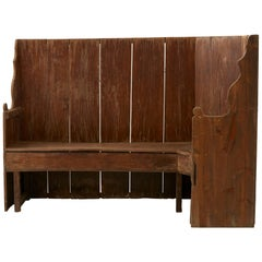 Late 19th Century Wooden Banquette Bench