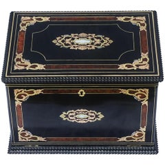 Napoleon III  Boulle Marquetry Jewelry Sewing Box, France, 1870
