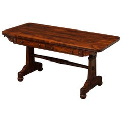 Exceptional Regency Goncalo Alves Library Table in the Manner of Gillows
