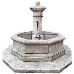 Centrale Octo Limestone Fountain