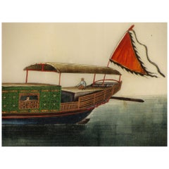 19th Century Chinese Folio Gouache Rice Paper Paintings