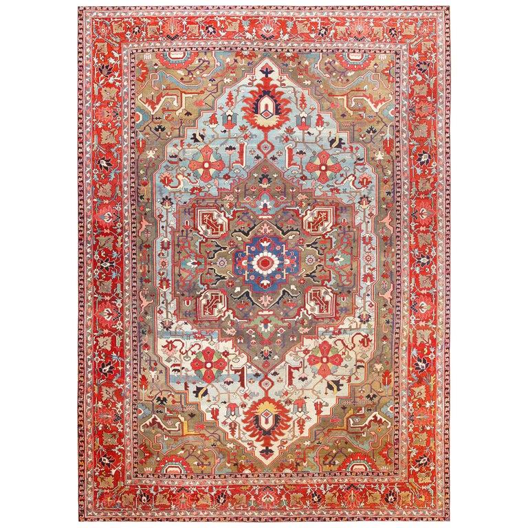 Persian Heriz Serapi carpet, 1900