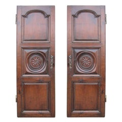 Pair of 19th Century French Carved Armoire Doors with Star