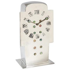 "English Art Nouveau ""Tudric"" Clock by Archibald Knox"