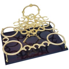 Napoleon III Bronze Liquor Cellar Tray, France, 1865
