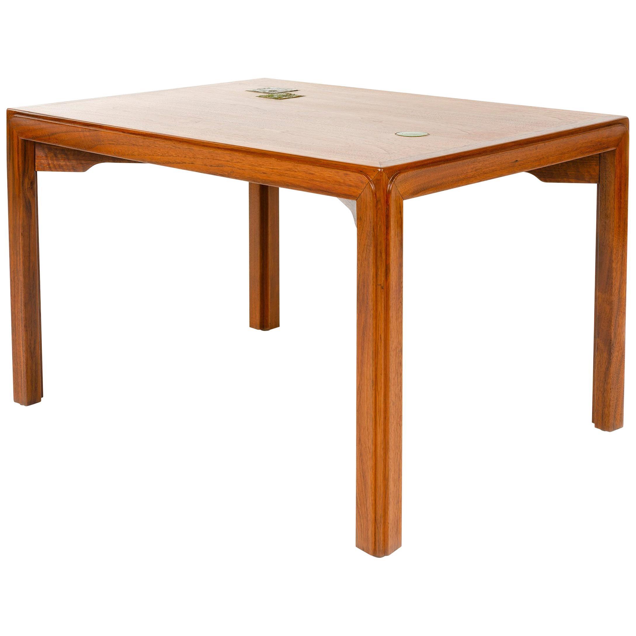 1950s Walnut 'Janus' End Table by Edward Wormley for Dunbar