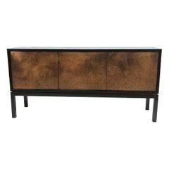Copper Panel Ebonozed Modernist Credenza