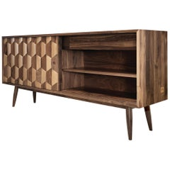 Elegant Walnut Sideboard Credenza