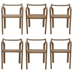 Six Odette Dining Chairs in Oak by Fred&Juul