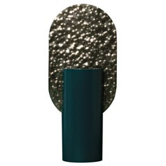 Limited Edition Modern Vase Genke CSL3 by Noom in Hammered Brass and Steel