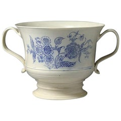 Scratch Blue Saltglaze Loving Cup Made in Staffordshire Mid-18th Century Period