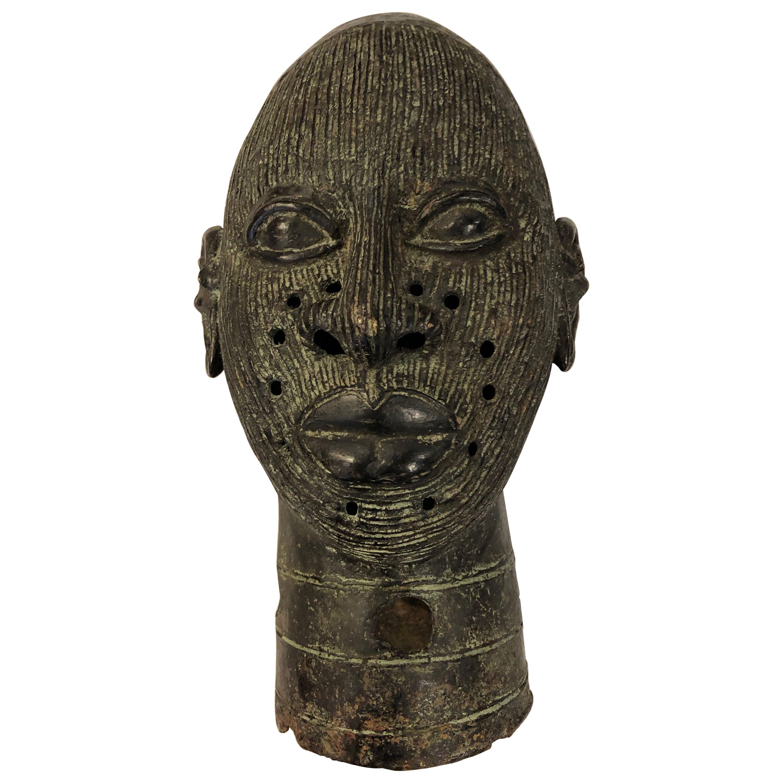 African Benin Bronze Head