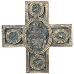 18th Century Italian Polychrome Cross