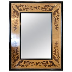 Mirror with Inlaid Design