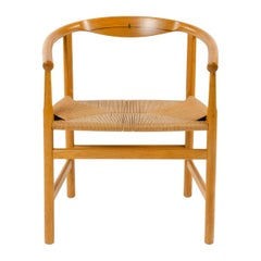 Oak Armchair with Wenge Inlay by Hans Wegner