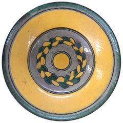 Antique Guatemalan Majolica Ceramic Plate