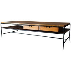 Paul McCobb Maple and Iron Coffee Table, circa 1955