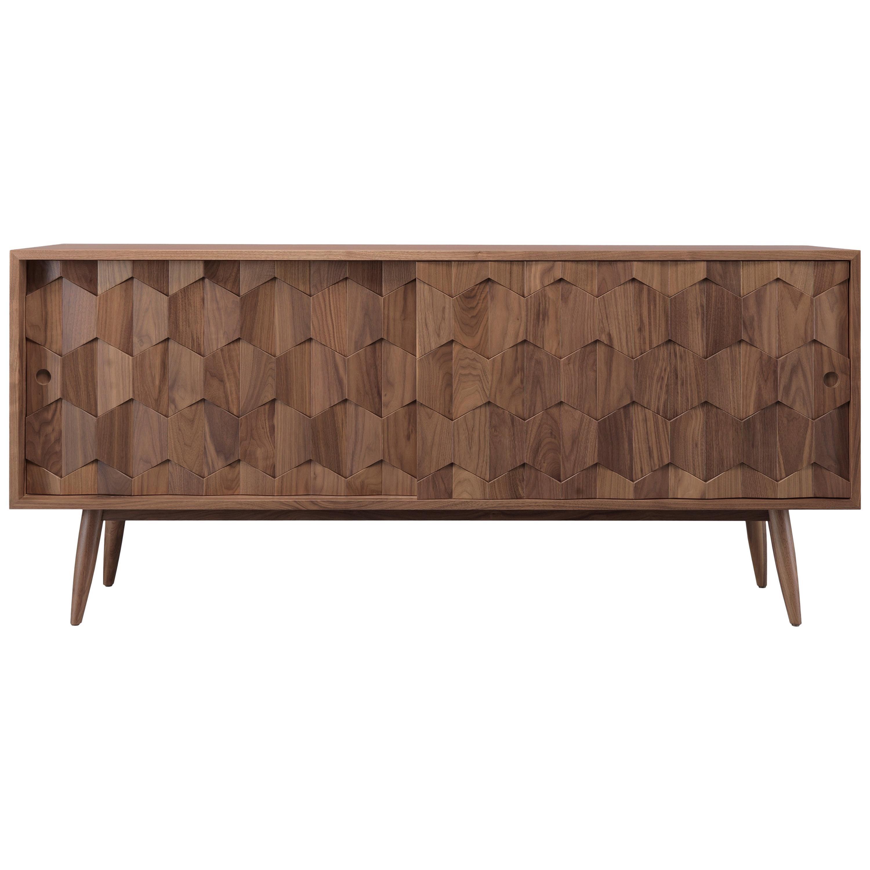 Walnut or Oak Sideboard Credenza