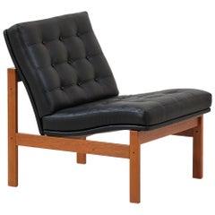 Ole Gjerløv-Knudsen and Torben Lind `Moduline` Leather Lounge Chair for France