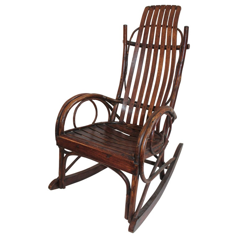 Amish Bent Wood Child's Rocking Chair For Sale