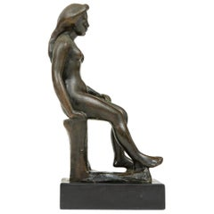 Sculpture of Seated Woman by Aristide Maillol