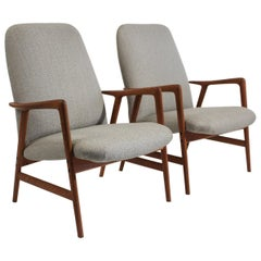 Folke Ohlsson for Dux Teak Lounge Chairs