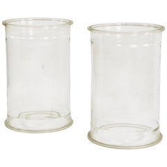 Pair of Glass Cylinders or Plinths