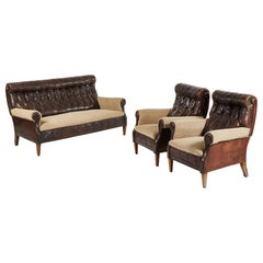 Sofa and Pair of Chairs Salon Set