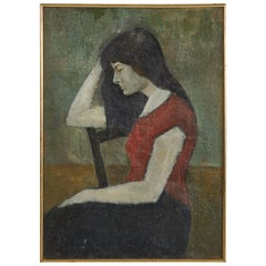 Oil Painting of Woman