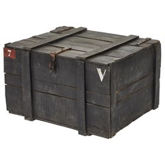 Painted Chest from Belgium Army