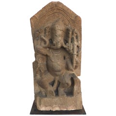 Indian Limestone Ganesh, circa 7th Century