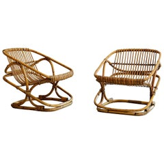 Bonacina Square Rattan Chairs