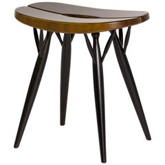 Authentic Pirkka Stool in Birch and Pine by Ilmari Tapiovaara & Artek