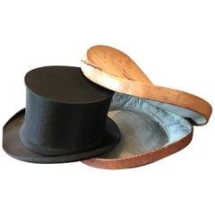 Hat Box and Chapeau Claque Paris, 19th Century