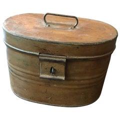 Metal Hat Box in Trompe l'oeil, 19th Century
