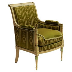 Empire Revival Bergere Armchair Includes Recovering, Early 20th Century