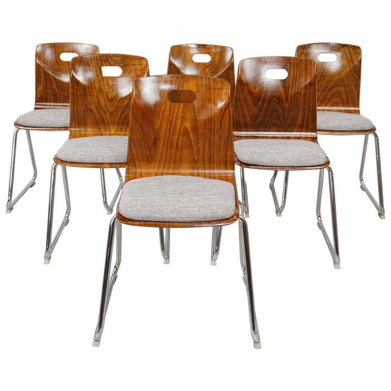 1960s Pagwood Pagholz Design Set of Six Chairs