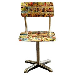 Midcentury Bentwood Childs Chair 1950s Comic Decoupage Lucky Luke