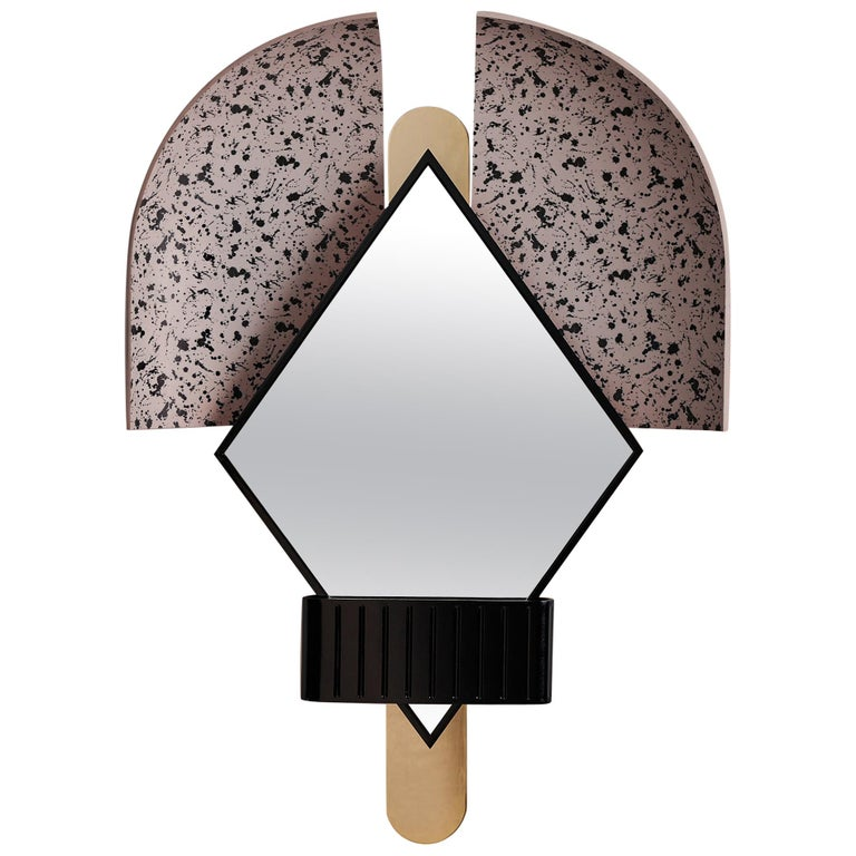 Bonnet Mirror in Pink For Sale