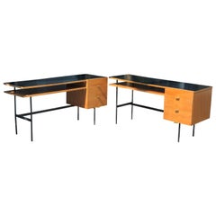Pair of Vintage French Desk in the Style of  Paulin, Guariche, Hitier, 1950