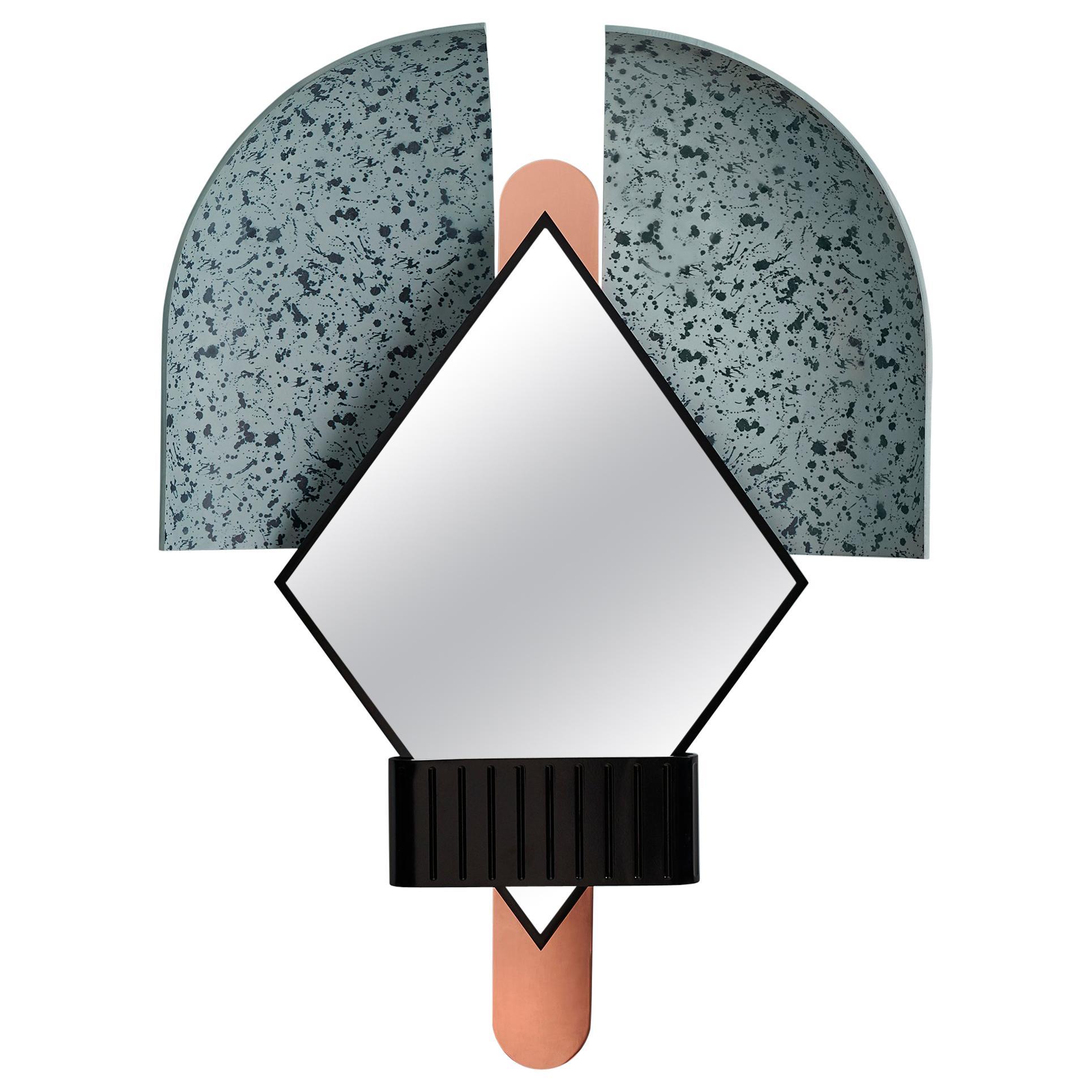 Bonnet Mirror in Light Blue